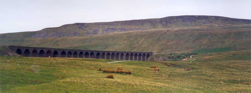 Ribblehead Viaduct in the Yorkshire Dales National Park